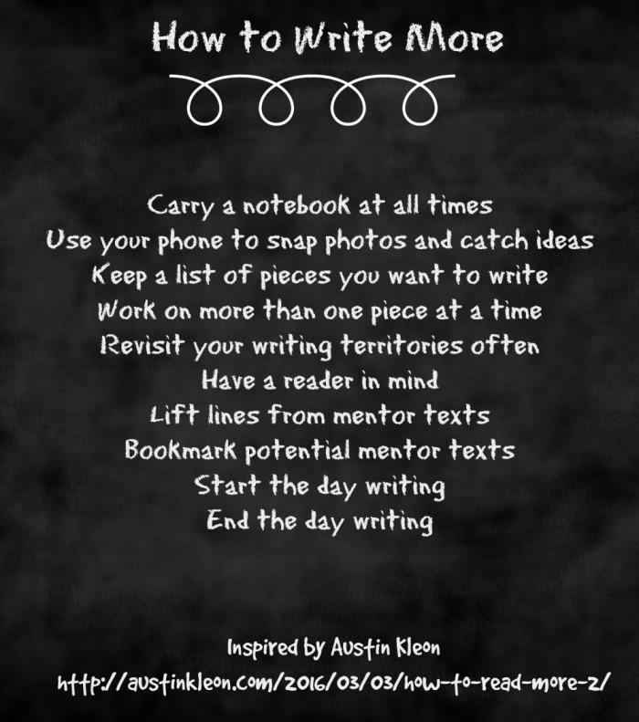 How to Write More