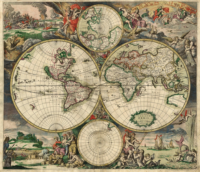 1689 world map by chuck closer