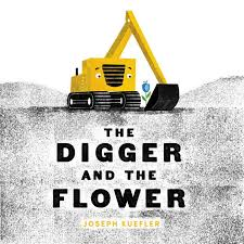 digger and flower